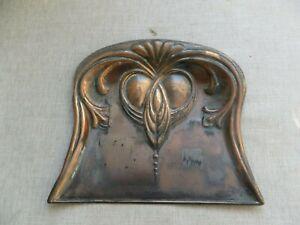 Art Nouveau beautiful stylised brass crumb tray/utter quality Decorators item