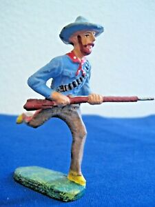 Cow Boy Old IN Composition Elastolin Indian