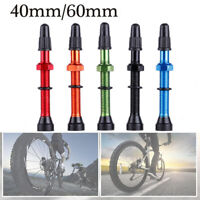 1Pair 48mm 60mm Presta Valve for Road MTB Bicycle Tubeless Tires Core Alloy Stem