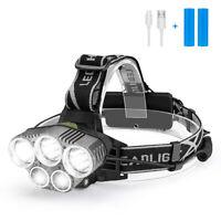Wasserdicht 20000LM LED USB Scheinwerfer Stirnlampe Lampen Kopflampe 18650 Akku