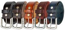 """Vintage Full Grain Genuine Leather Casual Work Belt  1 1/2"""" Wide Nickle Buckle"""
