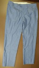 BROOKS BROTHERS FITZGERALD FIT MEN'S DRESS PANTS LIGHT BLUE 100% COTTON RN 93986