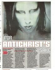 MARILYN MANSON Mechanical Animals 1998 album review UK ARTICLE / clipping