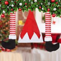 50cm Christmas Tree Santa Hat & Legs Decoration Novelty Elf Ornament Bauble