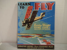 Curtis Wright Flying Service Tin Sign