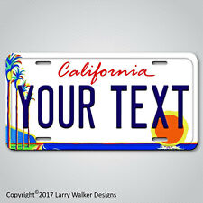 California Palm Trees ANY TEXT Your Personalized Text Aluminum License Plate NEW