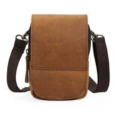 Vintage Men Leather Small Sport Travel Bum Belt Waist Fanny Pack Shoulder Bag
