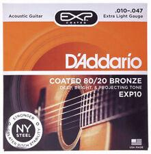 Jeu de 6 cordes Acoustique D'addario EXP10 Extra Light