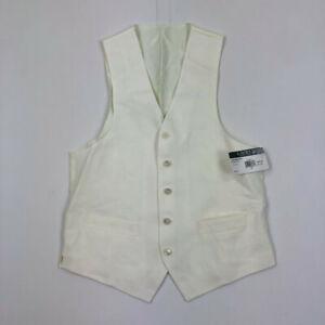 Lauren Ralph Lauren Mens Suit Vest Hitchcock OffWhite Variety