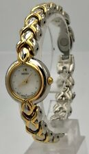 Ladies Two Tone Seiko Quartz Vintage Casual Mother of Pearl Classic Watch