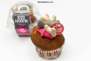 1 x  Barking Bakery Iced Woofin. Cupcake, birthday cake dog puppy
