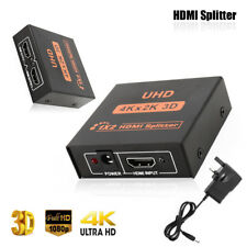 US Plug 1×2 HDMI Splitter v1.4D View 4K 3D 1080p One Input to Two Output Top