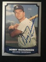 BOBBY RICHARDSON 1988 PACIFIC AUTOGRAPHED SIGNED AUTO BASEBALL CARD 74