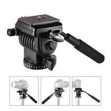 """Flexible Camera Fluid Tripod Head Mount w/Quick Release Plate 1/4""""&3/8""""Screw"""