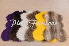 """28""""x 48"""" A14 Cute Sheep Custom Design Area Rug Faux Fur Plush Rug 1"""" Thick"""