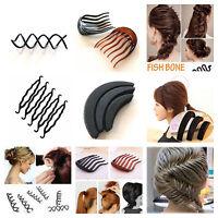 Hair styling accessories bun maker volume insert pin combe french plait twist