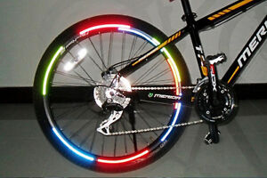 Fluorescent Reflective Bicycle Wheel Safety Stickers Bike Rim