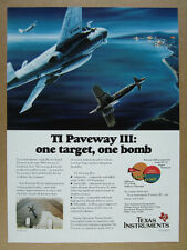 1993 TI Texas Instruments Paveway III Laser-Guided Bomb vintage print Ad