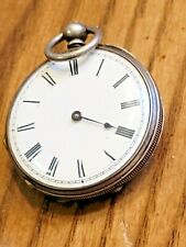 ANTIQUE ENGLISH Ladies Pocket Watch - HALL MARKS STERLING .