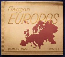 Sammelbilderalbum Flaggen Europas 1933 Landeskunde Zigarettenbilder Welt sf