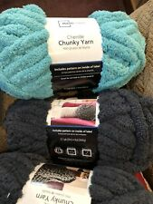 Yarn. Chunky Chenille Yarn. 2 Balls Of Teal, Brand new, unopened package