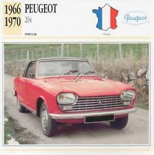 1966-1970 PEUGEOT 204 Classic Car Photograph / Information Maxi Card