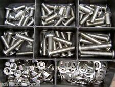 180 Piezas Acero Inoxidable Torx tornillos tuercas Set M4 ISO 7380 Surtido Caja