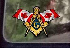 "ProSticker 088 (One) 3"" x 5"" Canada Canadian Flags Masonic Decal Sticker"