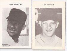 Lot of 2 1969 Milton Bradley Game Baseball Game Cards - Ray Sadecki & Lee Stange