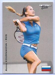 """ANNA KOURNIKOVA 2003 """"1ST EVER PRINTED"""" NETPRO ELITE TENNIS ROOKIE CARD #S3!"""