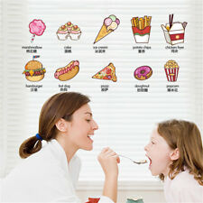 Food English Childs Room Home Decor Removable Wall Sticker Decal Decoration