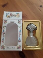 Empty glass perfume bottle. Lovely frosted glass perfume bottle with stopper.