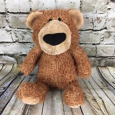 Gund Hubble Brown And Tan Teddy Bear 13.5 Inch Tall Stuffed Plush Doll Free S/H