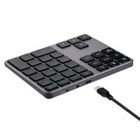 Small-Size Alloy 35 Keys Bluetooth Wireless Numeric Keypad for Accounting T J3C5
