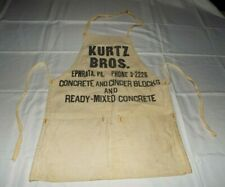 Kurtz Bros. Concrete And Cinder Blocks Ephrata, Pa. Apron 1950's Read!