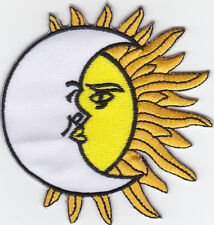 iron on Patches embroidered Patch Moon & Sun Yin Yang Cabalistic Mystic -a5j1