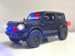 Unmarked Police 2021 Ford Bronco Concept Undercover FBI SUV 1/18 WORKING Lights