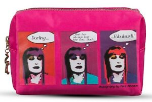 Zandra Rhodes Designer Cosmetic Bag Pink makeup case Gift Boxed for CHRISTMAS