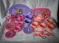 Tea Party Lot 2 Sets Disney Princesses Barbie Princess & Pauper 31 Piece Vintage