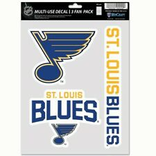 St Louis Blues Wincraft NHL Decal Sheet(3 Decals) Multi Use Decal