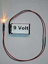 Anschlussfertige Flacker LED 5mm m. Batterieclip Flackerlicht, Lagerfeuer, Kerze