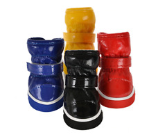 4Pcs Dog Puppy Snow Booties Winter Warm Anti-Slip Shoes Pet Protective Boots