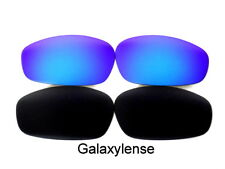 Galaxy Replacement Lenses For Oakley Whisker Sunglasses Black&Blue Polarized