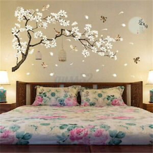 Chinese Style Flower Tree Bird Cage Wall Stickers Removable DIY    !