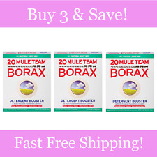 20 Mule Team Borax Detergent Booster Multi-Purpose Household Cleaner 65 Oz 3Pk