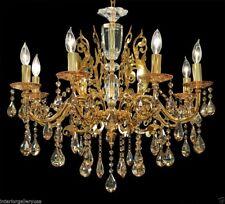 K9 Crystal Chandelier - 8 Light - Crystal Chandelier - Polished Gold - Abigail