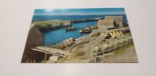 Lunenburg, Nova Scotia Fishing Boat Harbor Pier 1940s AWESOME Postcard Unused!