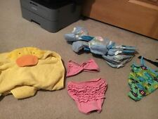 18 MONTH SWIM SET WITH SWIMMERS TOWEL 2 SUITS LOT