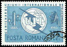 Scott # 1744 - 1965 - ' ITU Emblem, Old & New Communication Equipment '