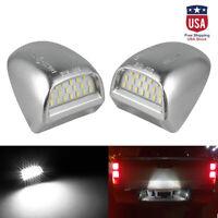 2pc LED License Plate Light Lamp Bulb For GMC Sierra Chevy Silverado 1500-3500HD